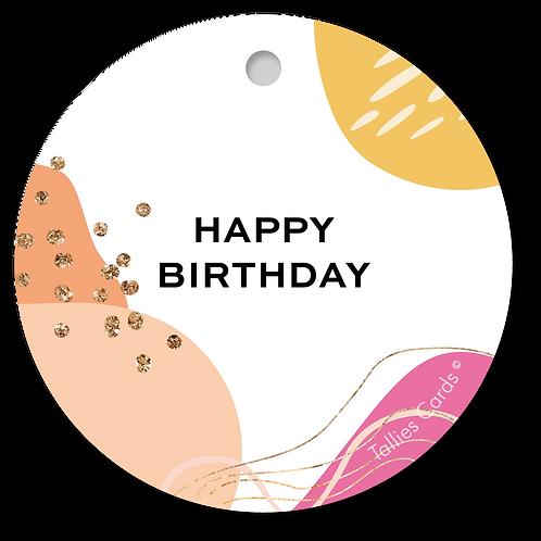 Happy Birthday - Abstract - set van 5 kaarten