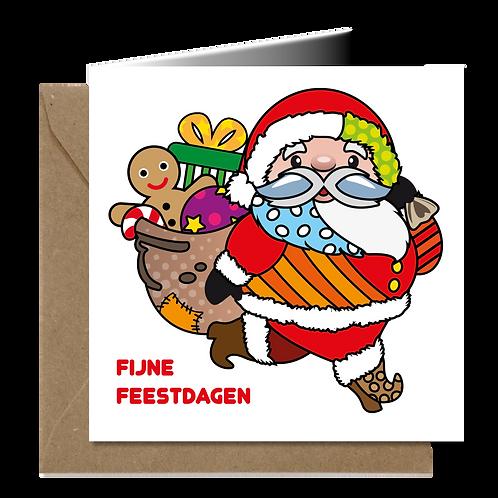 Kerstman - PopArt wenskaarten