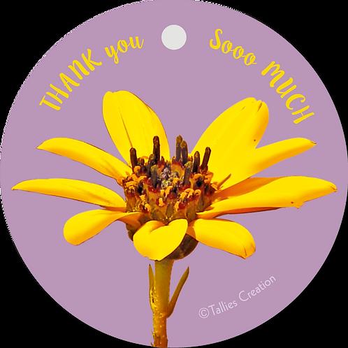 Thank you sooo much - Flowerpower - set van 5 kaarten