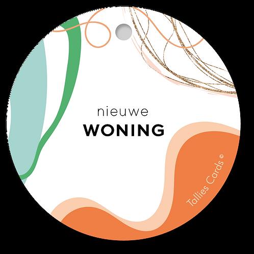 Woning - Abstract - set van 5 kaarten