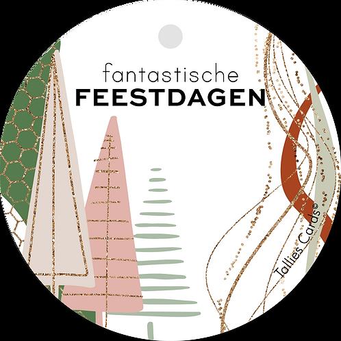 Fantastische feestdagen - Abstract - set van 5 kaarten