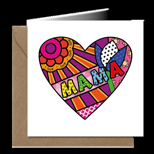 Mama - PopArt wenskaarten