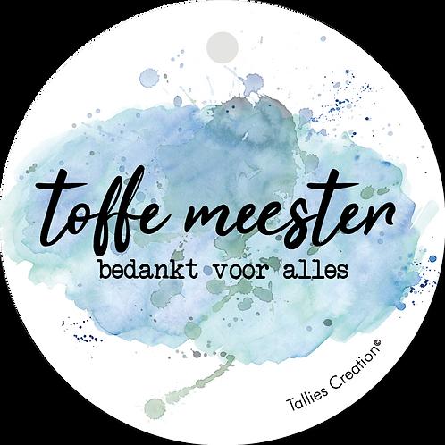Toffe Meester - Aquarel - set van 5 kaarten
