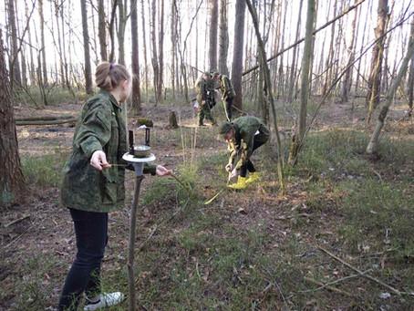 Буссольная съемка лесного участка