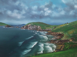 Dingle peninsula, 23 x 18 framed, oil on canvas, price 350