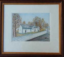 Frank Bouchier, Cratloe Church, Watercolour
