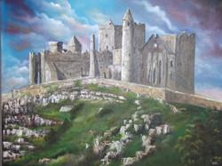 Rock of cashel, 32 x 23 not framed, oil on canvas, price 300