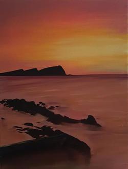 Sunset at Dooneen Pier, Slea Head_edited