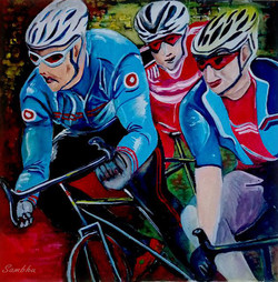 Cyclists in Town