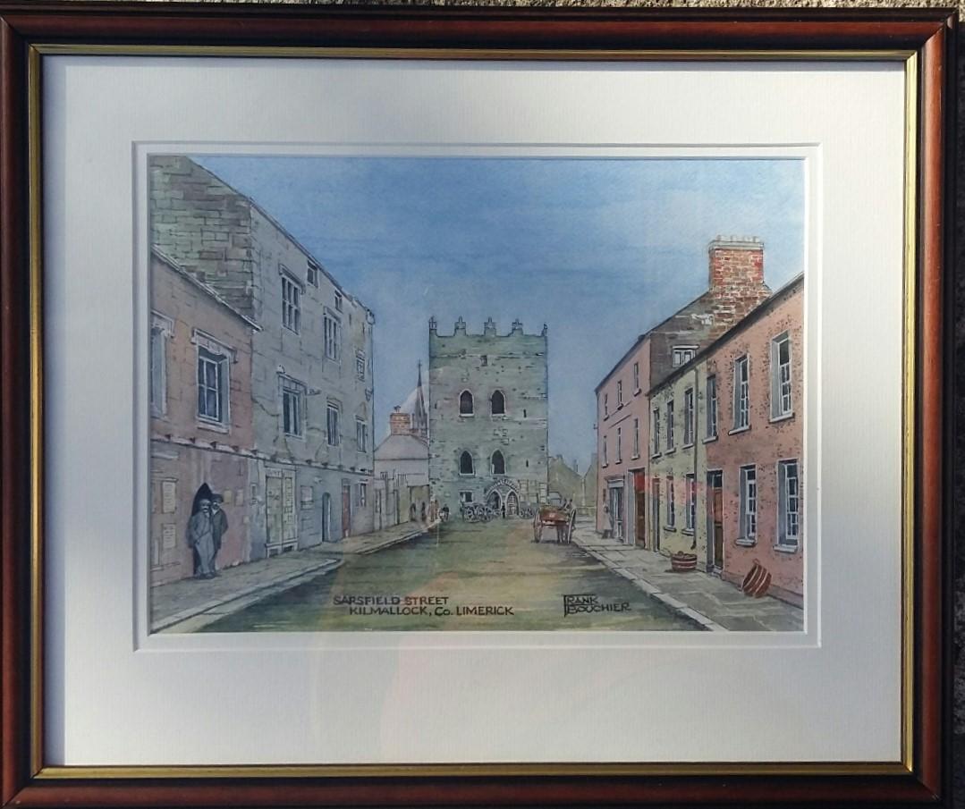 Frank Bouchier, Sarsfield Street, Kilmallock, Watercolour