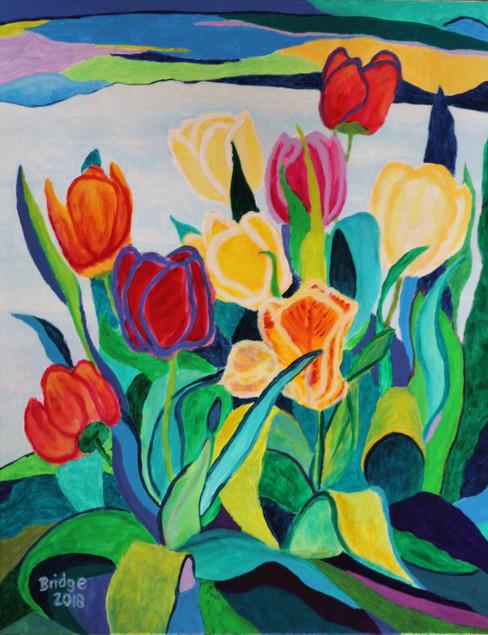 Tulips at the Lake