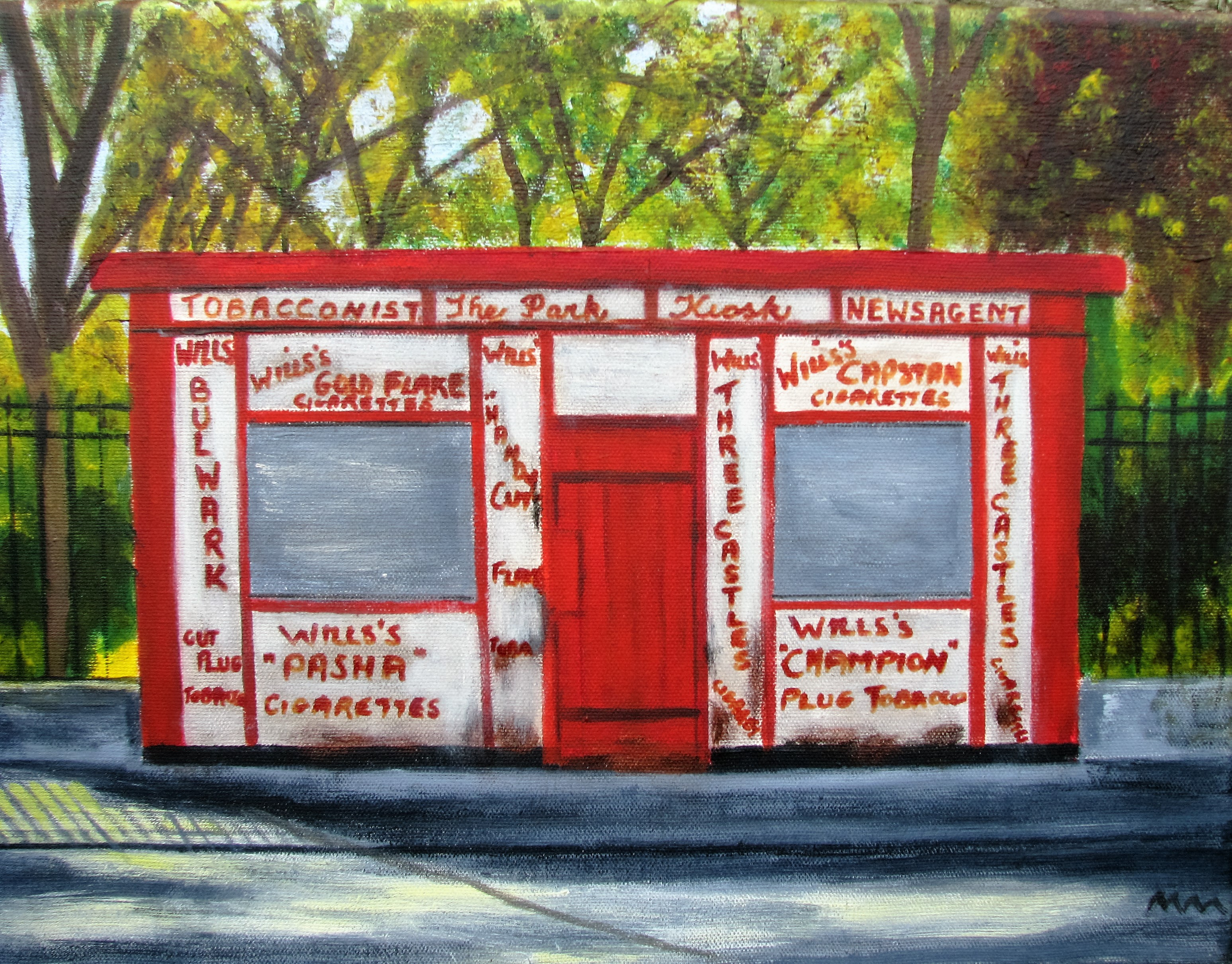 The Kiosk, Oil on Canvas