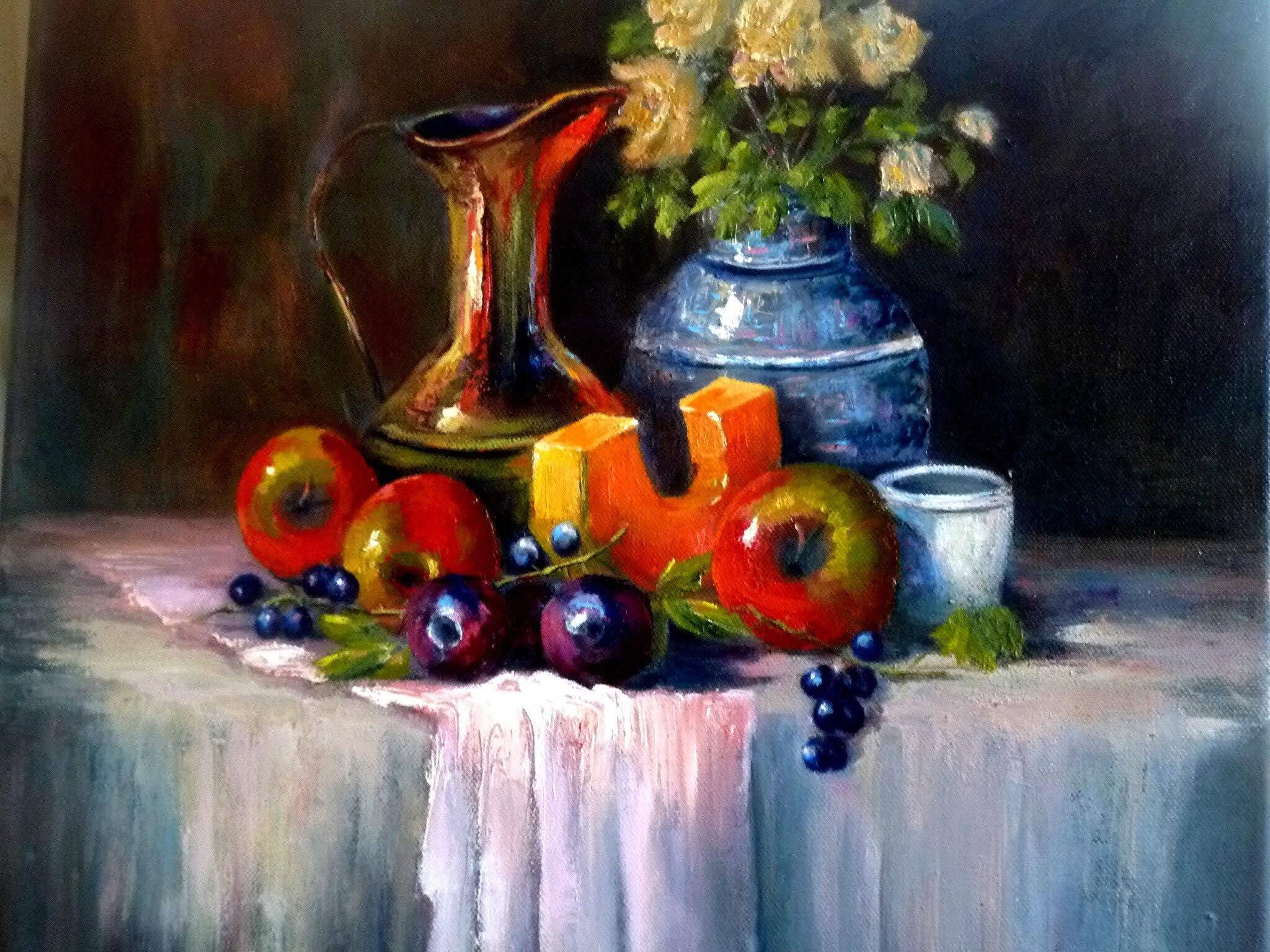 Fruit Still Life, Denise Coppola