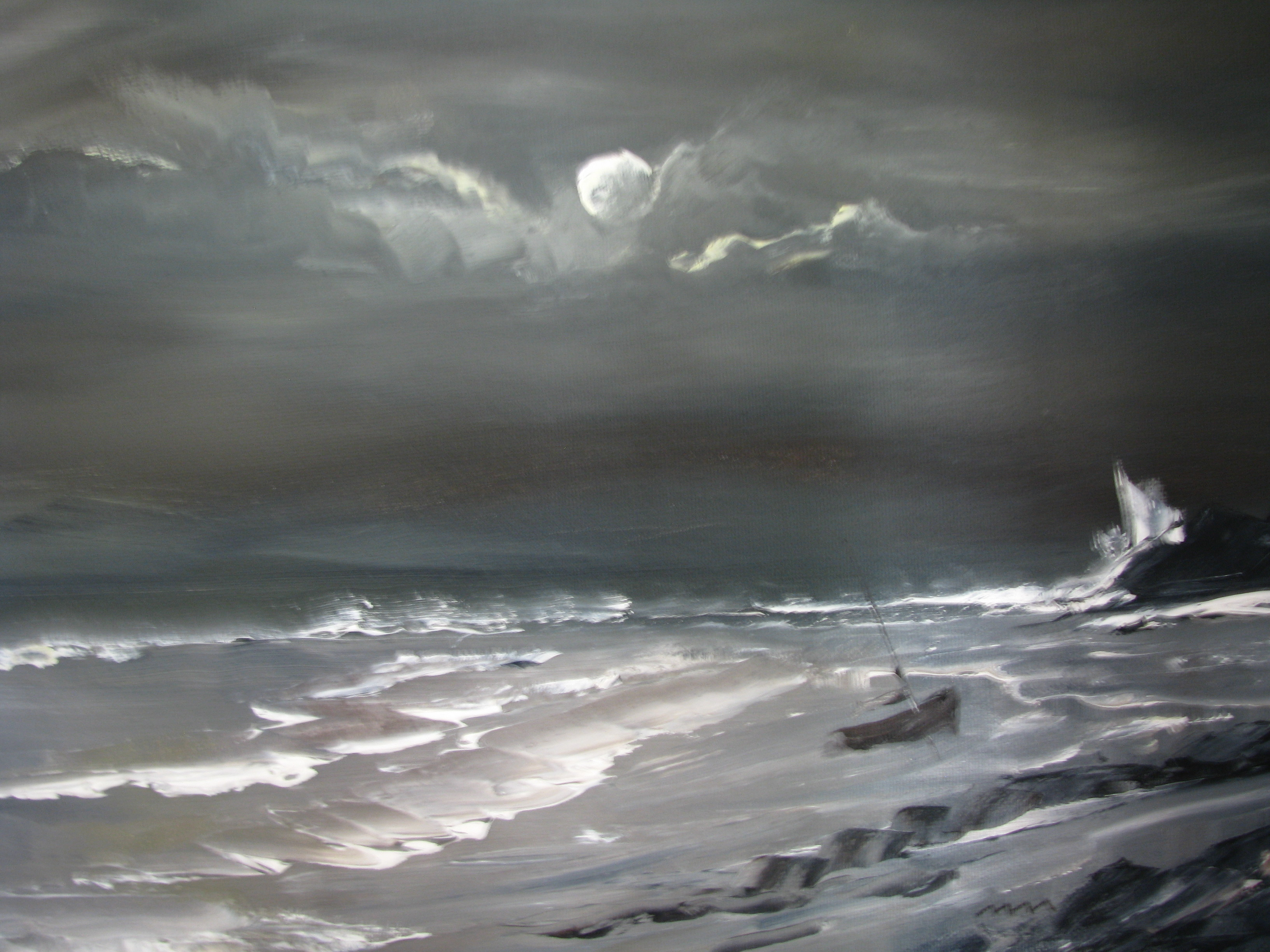 By the Light of the Moon, Oil on Canvas
