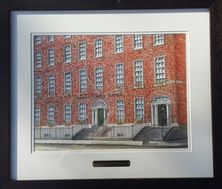 Frank Bouchier, O Connell Street, Watercolour