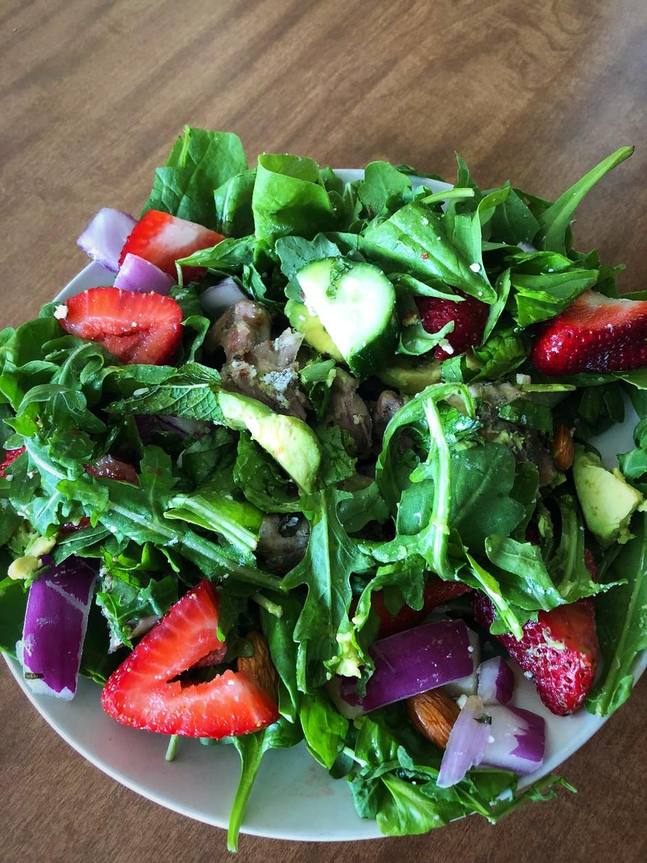 My Favorite Avocado Strawberry Summer Salad