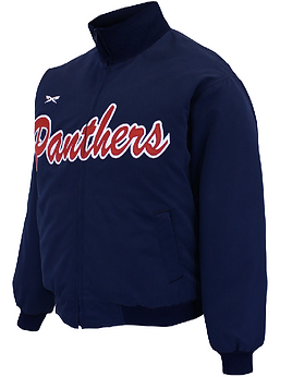 PANTHERS FULL ZIP BASEBALL JACKET
