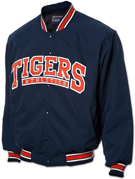 TIGERS FULL BUTTON-UP BASEBALL JACKET