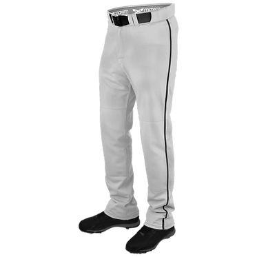 Maxim Adult Power Baseball Pant Gray w/Piping