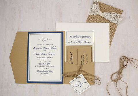 Rustic Invitation with Layer and Pocket