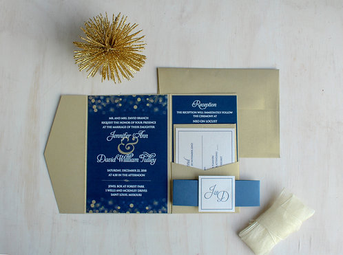 Full Color Invitation with Pocket