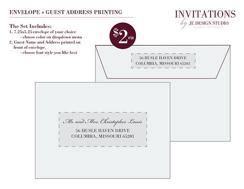 5x7Address Printing with Envelope