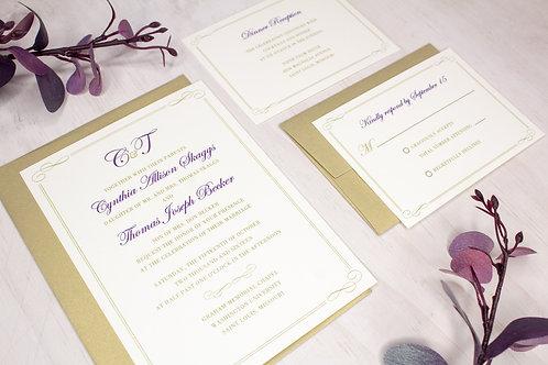 Monogram Invitation