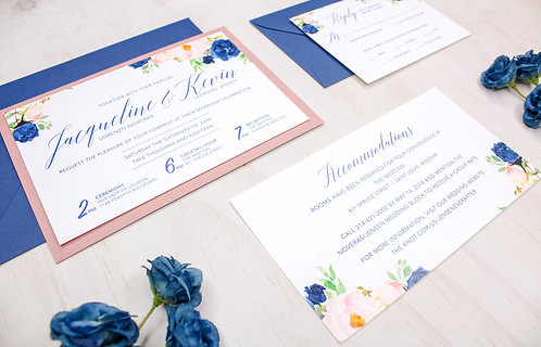 Horizontal Floral Invitation with Layer