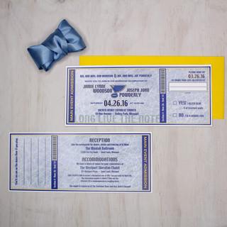 sports ticket style invitation