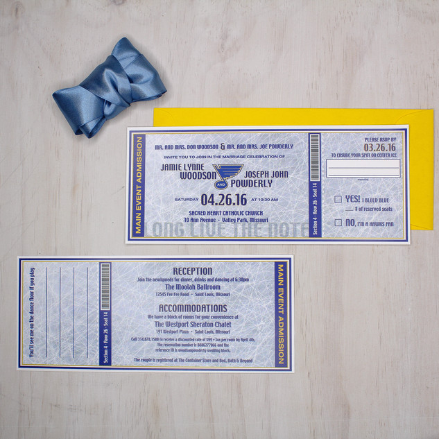 sports ticket style invitation