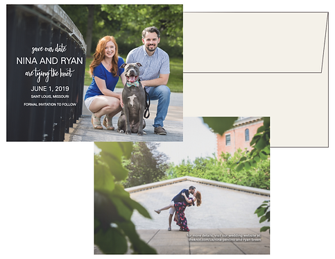 Double Sided Save the Date with Envelope