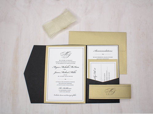 Classic Invitation with Layer and Pocket