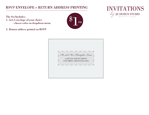 RSVP Address Printing with Envelope