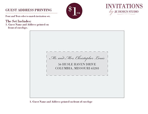 Guest Name and Address Printing