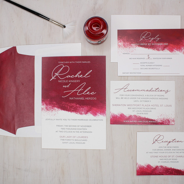 paint stroke watercolor invitation