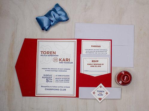 Sports Invitation with Pocket