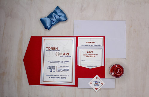 Sports Invitation with Layer and Pocket