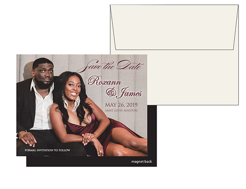 Magnet Save the Date with Envelope