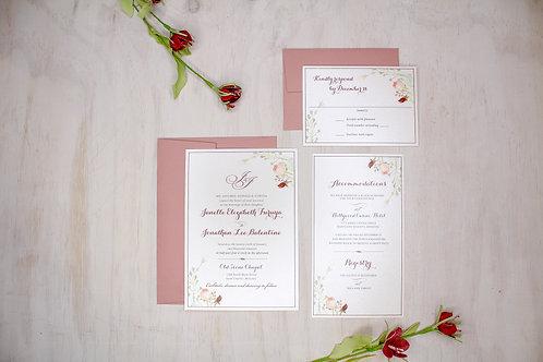 Floral Greenery Invitation