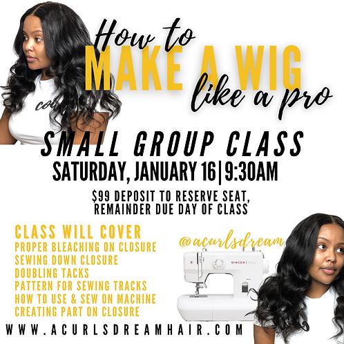 January Wig-Making Class