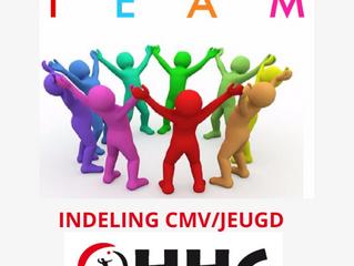 Teamindeling CMV / jeugd seizoen 20-21