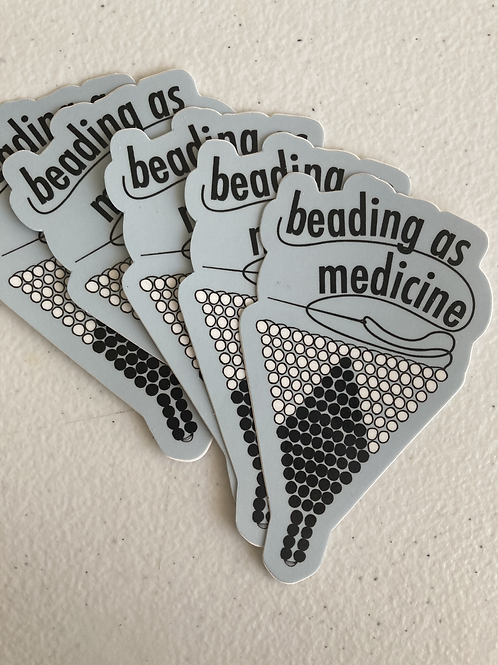 Beading as Medicine Sticker (Gray)