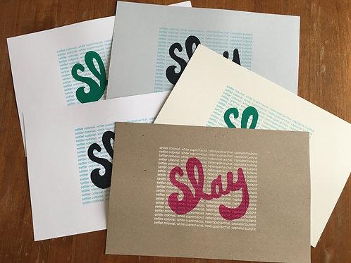 SLAY (mini serigraph)