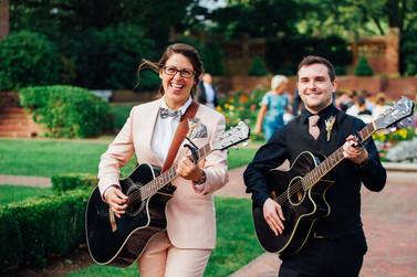 Ceremony Musicians at Garden Wedding