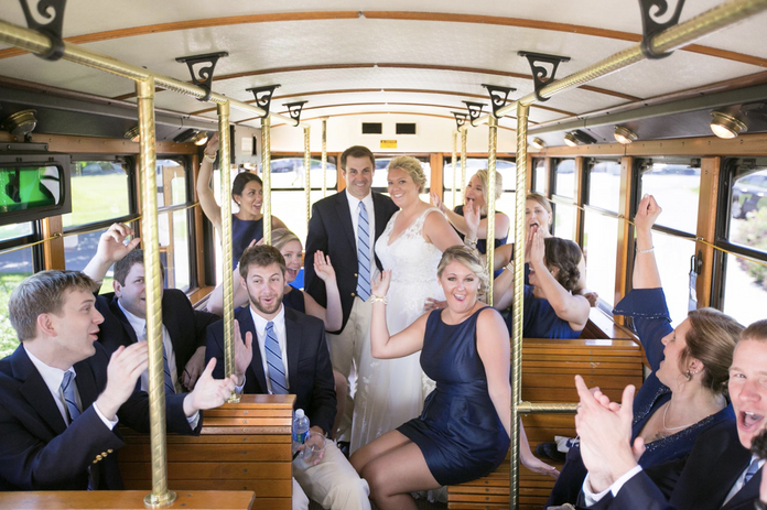 Bridal Party on Trolley