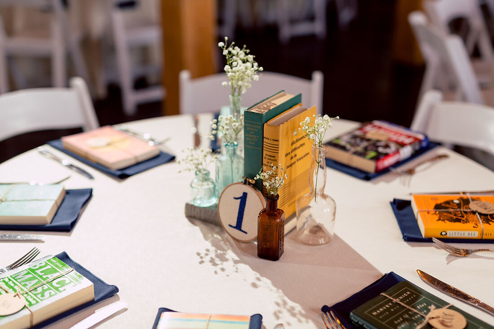 Wedding Book Centerpieces
