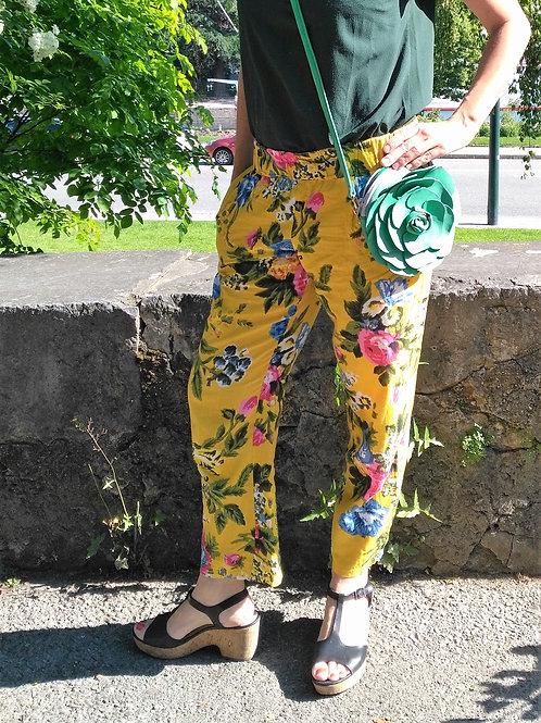 Pantalon d'été fleuri