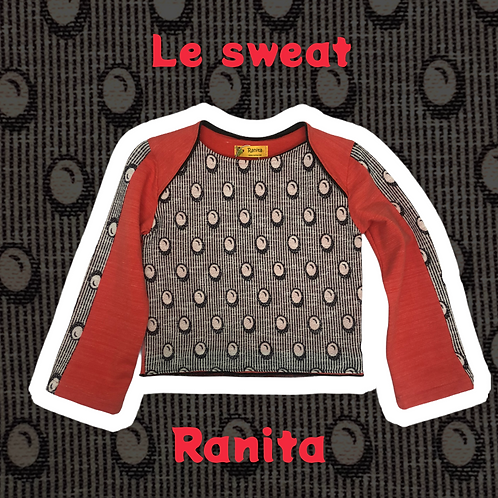 Le sweat orange et pois