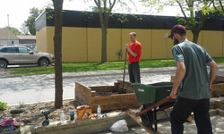planting day at library commons 2