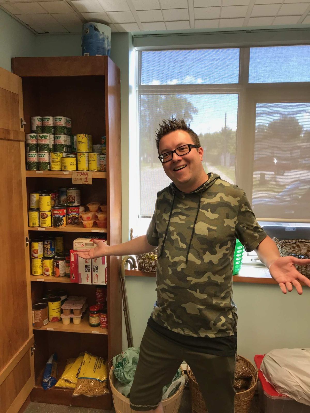 Dan and our food cupboard